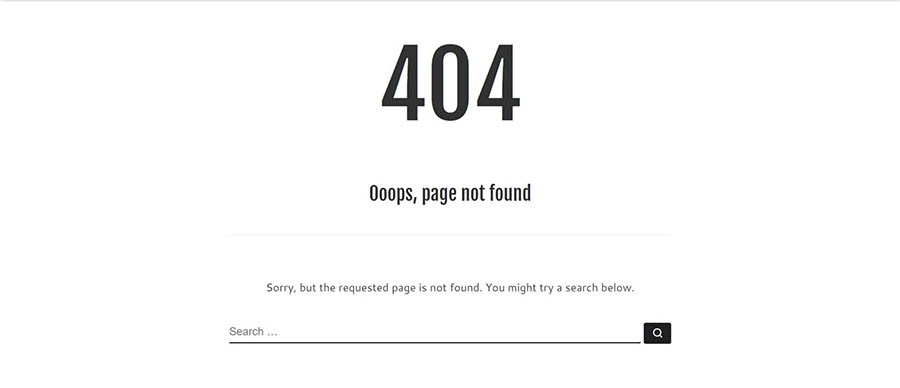 A custom 404 error page.