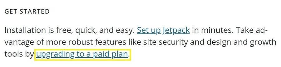An excerpt of Jetpack's plugin description.