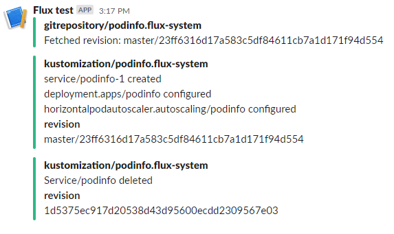 Slack - Flux reported changes
