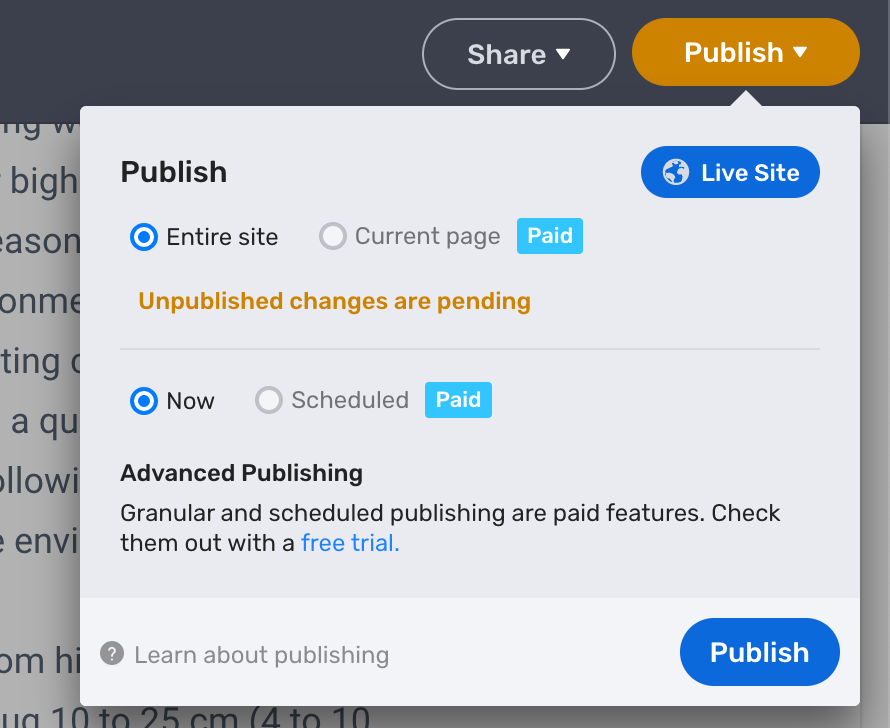 Publish your site