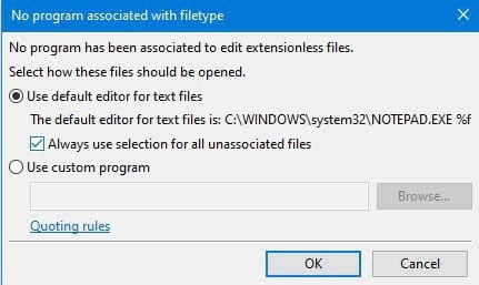 A warning message in FileZilla.