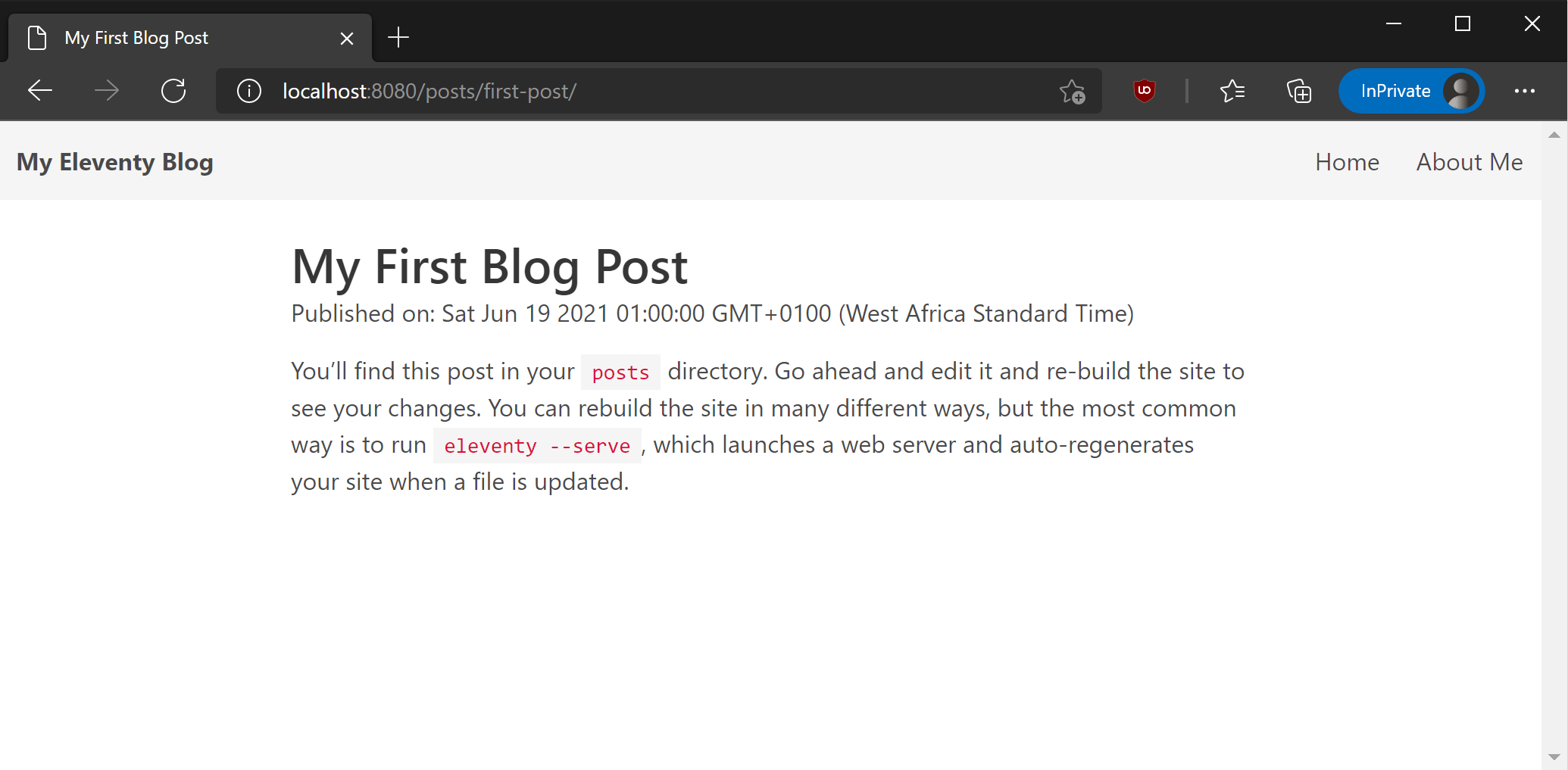 A blog post