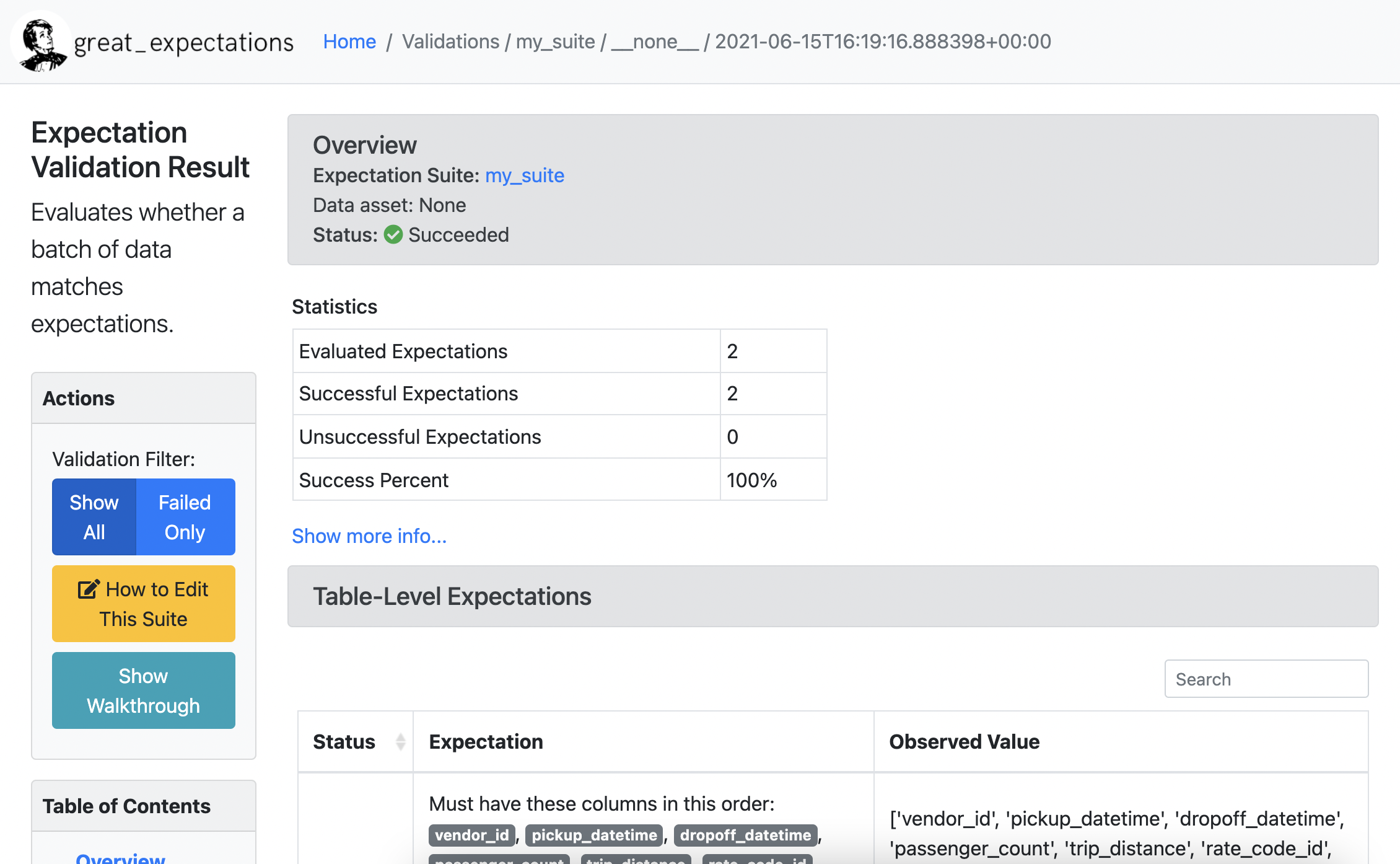 Screenshot of Data Docs