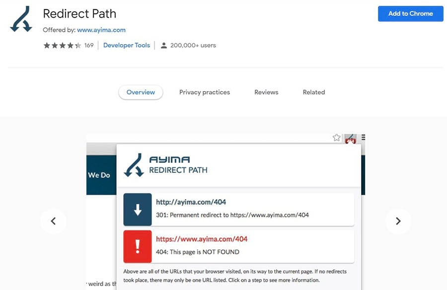 The Redirect Path Chrome extension.