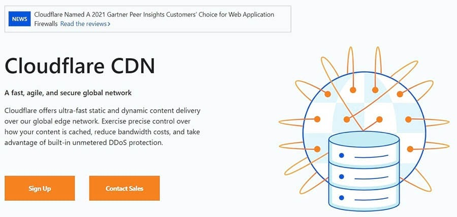 The Cloudflare Content Delivery Network (CDN).